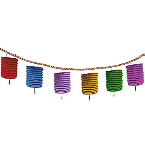 Colored Hanging Honeycomb Lanterns Tassel product image