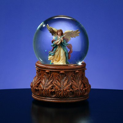 Angel Playing Mandolin Water Globe by The San Francisco Music Box Company