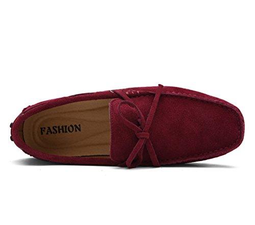 Rosso Scamosciata Pantofola Uomo Icegrey della Mocassini Vino Allacciare Pelle wvTOOxZ8q