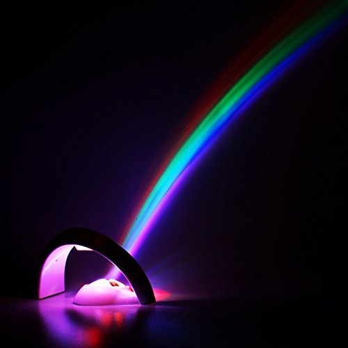 AKLUER Magic Romantic LED Lamp Amazing Rainbow Projector Night Light in Children Room Bedroom Living Room Kindergarten for Kids Valentine's Christmas Gift by AKLUER