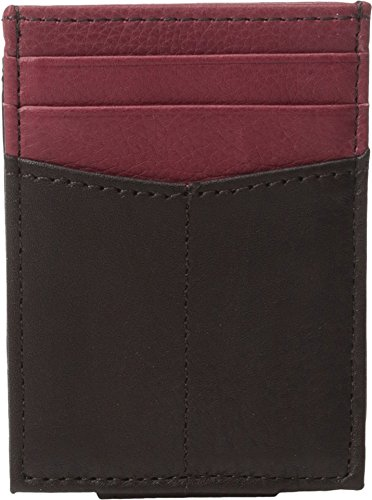 Johnston & Murphy Men's Front Pocket Wallet Brown/Burgundy Cell Phone Wallet
