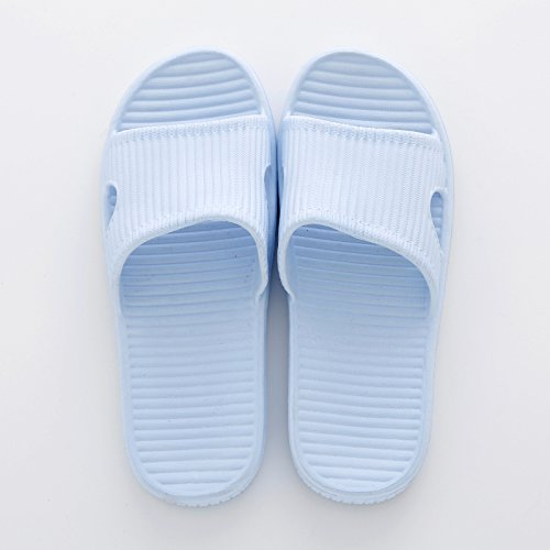 Male Home 37 Slippers Indoor Summer 36 Muted Soft Blue Slippers Anti Women Fankou slip And Floors Sky Wooden Stay Bath TwxqfnvF8