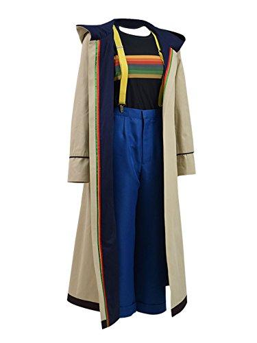 Very Last Shop Classic Sci-Fi TV Series 13th Doctor Costume Women Beige Trench Coat Overcoat (Beige Full Set, US Women-XXL) by Very Last Shop (Image #1)