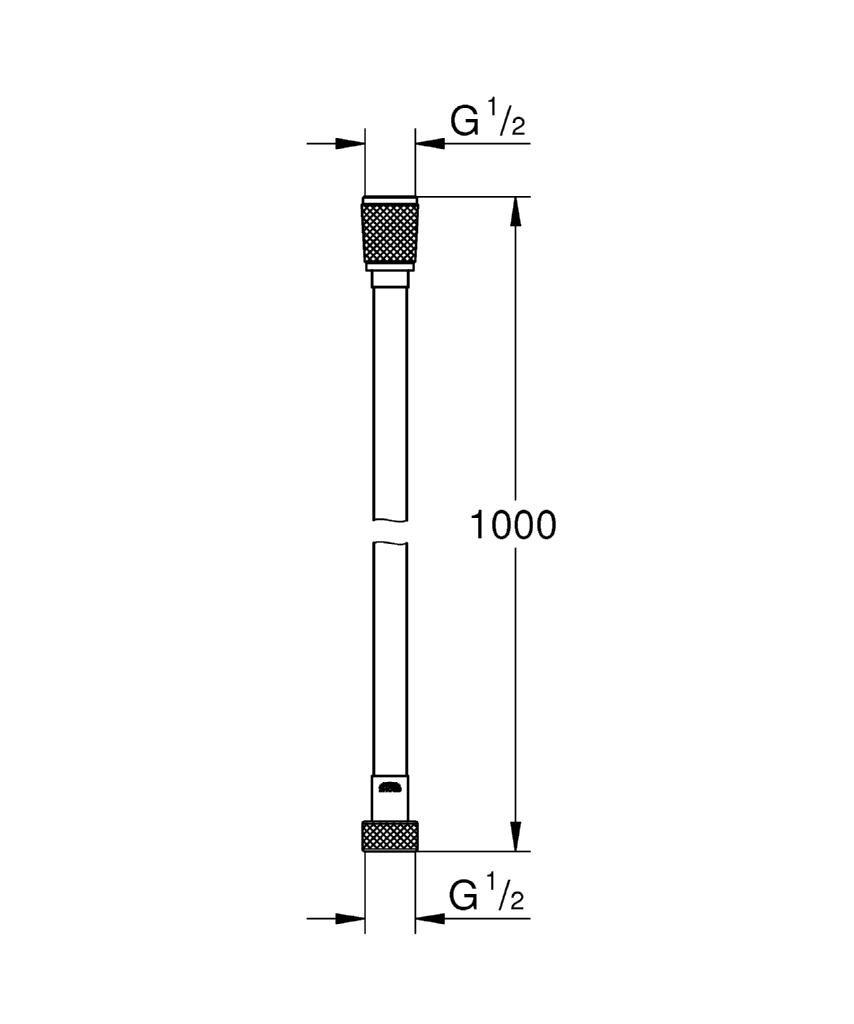 GROHE Flessibile Silverflex Cromo 26334000