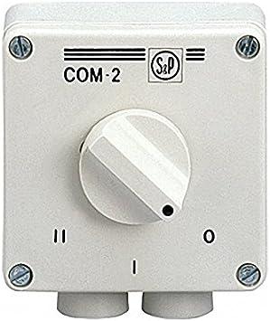 Soler & Palau; Regul-2; Interruptor conmutador para ventilador ...