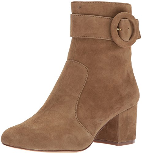 Nine West Women's Quilby Suede Ankle Boot, Clove, 9 Medium US