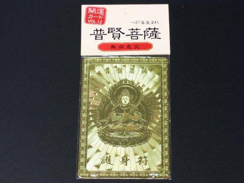[해외]행운 카드 금속 풍수 호 신 자국이 무 병 VOL.12 普賢菩薩 뱀 년 / Fortune card metal Feng Shui defense mark false sickness VOL.12 Boma Bodhisattva Snake Year
