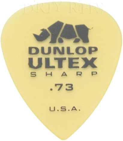 Jim Dunlop - Juego de 12 púas para guitarra Ultex Sharp de 0,73 mm ...