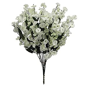 Artificial Flowers, Artificial Baby Breath White Flowers, (Pack of 2) Wedding Party Vase Decor Bridal Shower Favor Centerpieces 44