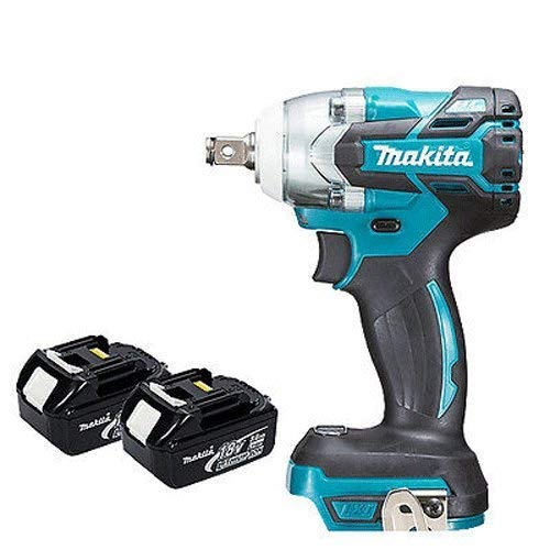 Makita DTW285Z 18V LXT Brushless 1//2in Impact Wrench Body with 2 x 3.0Ah BL1830 Batteries
