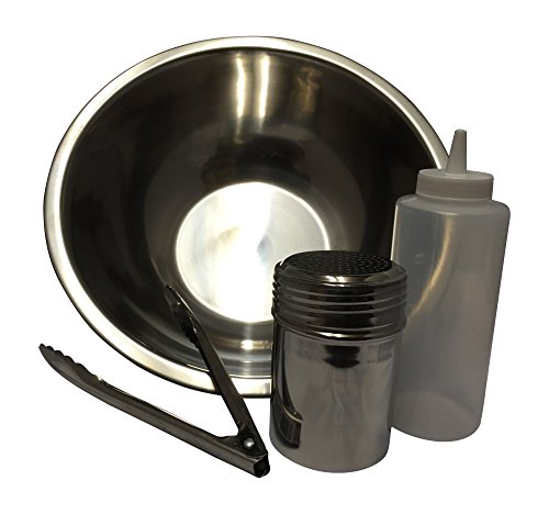 Toss, Bowl, Bottle, Rub Shaker, Tongs (Blazing Bucket)