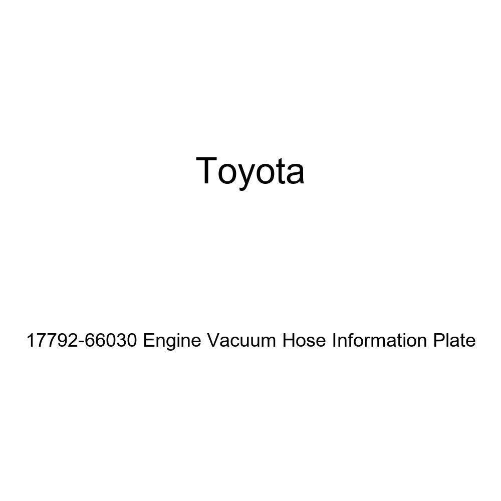 Genuine Toyota 17792-66030 Engine Vacuum Hose Information Plate
