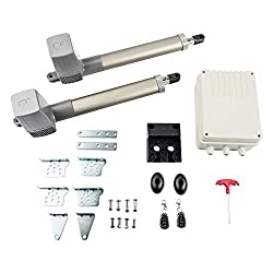 CO-Z Swing Gate Opener, Heavy Duty Automatic Double Gate Operators with Wireless Remote Control, Auto Dual Gate Motor Hardware Kit for Swing Gates, Driveway, Fence, Garage Door