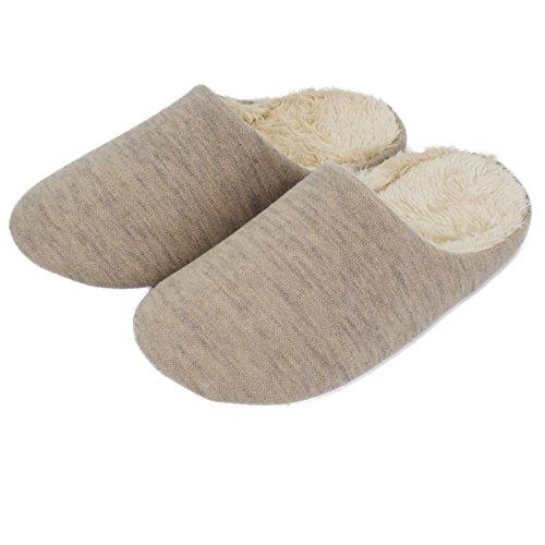 Moodeng Coppia Casual Coperta Pantofole Antiscivolo Casa Scivolare Scarpe Da Uomo E Donna Sandali Leggeri Signore Casa Pantofole Beige