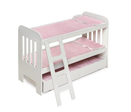 046605718575 - Badger Basket Trundle Doll Bunk Beds with Ladder (fits American Girl dolls) carousel main 1