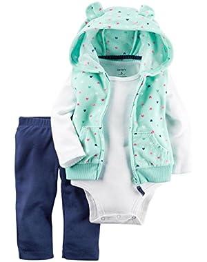3 Piece Heart Print Vest Set (Baby)