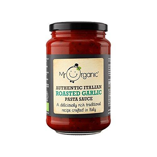 Mr Organic Salsa de Pasta de Ajo Asado 350g (Pack de 1)