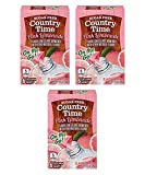 (3 Pack) Country Time On-The-Go Sugar-Free Pink Lemonade Powdered Soft Drink, 6-0.9 oz Packets
