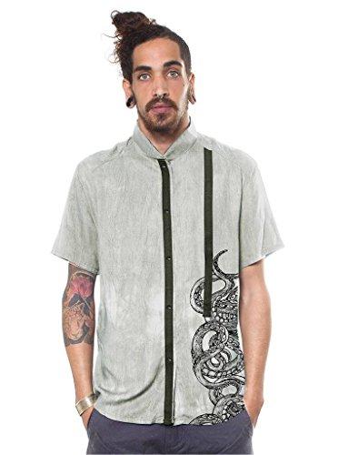 sual Smart Shirt Lightweight Octopus Tentacles Graphic Top Wash Green XL ()