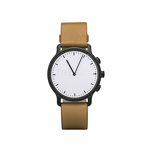 Nevo Hybrid Smart Watch for Android or IOS Phone,Black Case, Brown Strap by Nevo (Image #8)