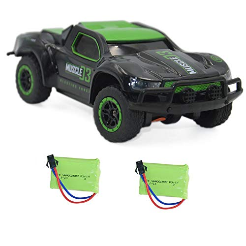 Blomiky 4WD 9MPH High Speed Racing RC Car 1:43 Scale 2.4G 4WD Electric Small Remote Control Vehicle D143 Green Black (Zip Zaps Micro Rc)