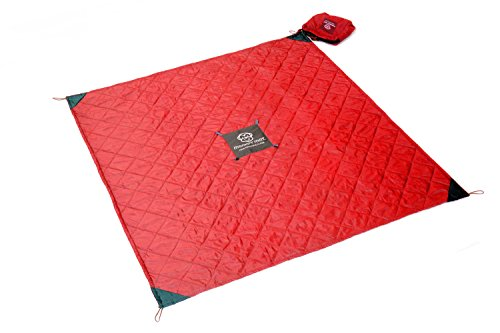 QUILTED Monkey Mat: Your Portable Floor - Red - 5' x 5' Portable Quilted Mat