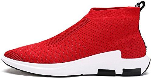 JIYE Men's Running Shoes Free Transform Flyknit Fashion Snea