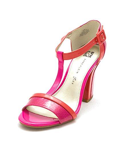 Anne Klein Frauen Cristan Offener Zeh Besonderer Anlass T-Strap Sandalen Pink