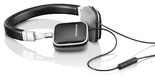 Harman Kardon SOHOi BLK Premium Lie Flat-On Ear Mini Headphones with iOS Remote (Black)