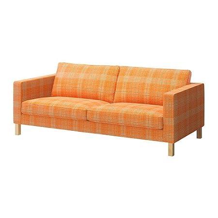 Ikea Karlstad Bezug Three Seat Sofa Husie Orange Amazonde