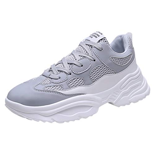 iHPH7 Shoes Trail Running Summer Lightweight Mesh Sneakers Breathable Fashion Woven Running Shoes Men (39,Gray)