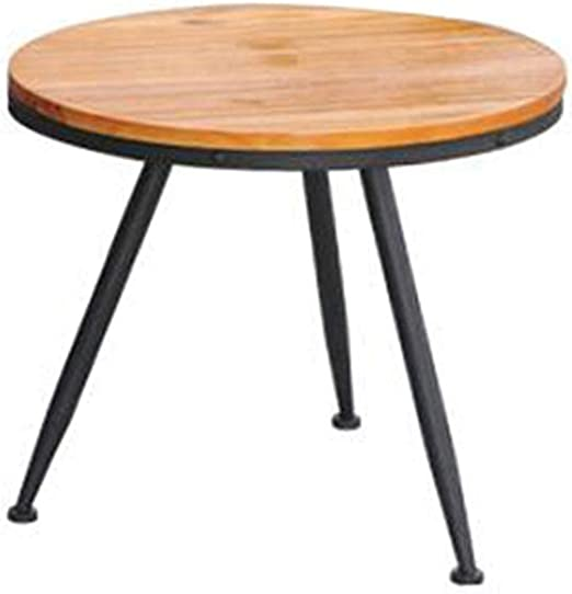 Jcnfa Side Table American Retro Side Table Industrial Round
