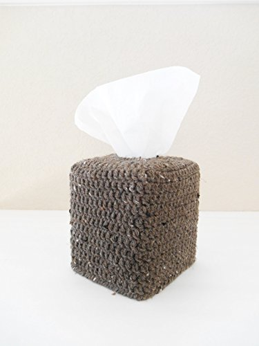 Crochet Tissue Box Cozy, Bathroom Tissue Box Cover
