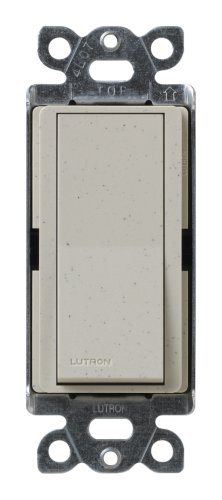 Price comparison product image Lutron SC-3PS-ST Diva 15-Amp, 120-Volt to 277-Volt 3-Way Switch in Stone