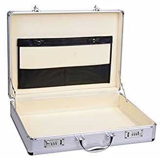 Alumaxx Attach/ékoffer OCTAN Aktenkoffer aus Aluminium Gesch/äftskoffer Silber Alu Business Koffer