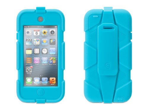Griffin Pool Blue Survivor Case + Belt Clip for iPod touch (5th/ 6th gen.) - Extreme-duty case (Belt Mp3 Player Case Clip With)