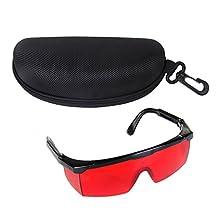 Laser Glasses - SODIAL(R) Safety Laser Glasses for Eye Protection Red