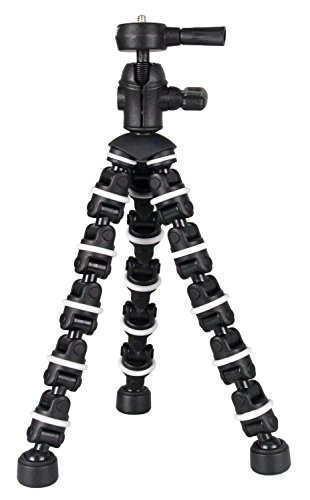 "The Professional Flexible Bendipod For Panasonic Lumix DMC-ZS40 (Lumix DMC-TZ60) Camera, 8"" Tripod - Quick Release - Sturdy Grip - Every Day Use!"