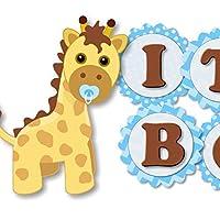 Blue Giraffe Baby Shower Banner - IT