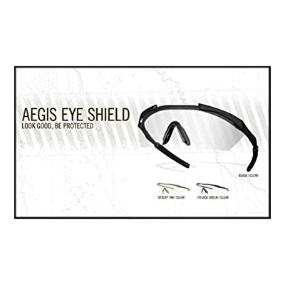 Smith Optics Aegis Eye Shield with Clear Installed Lens and Gray Spare Lens