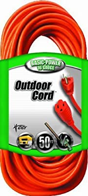 Coleman Cable 02307 16/3 Vinyl Outdoor Extension Cord