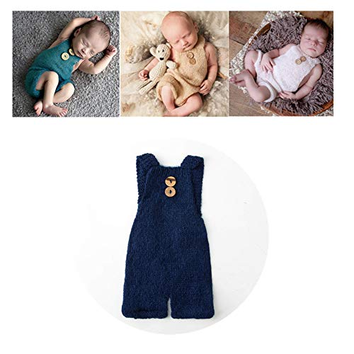 Vemonllas Luxury Fashion Unisex Newborn Baby Girl Boy Outfits Photography Props Rompers (Navy)
