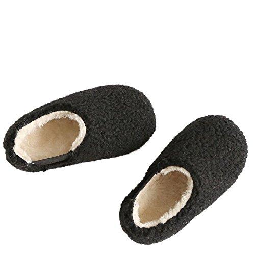 Hzjundasi Mode Winter Baby Schuhe Kinder Junge Mädchen Anti-Rutsch Keep Warm Erstes Gehen Beiläufig Schuh 1-6 Jahr Schwarz