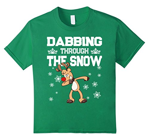Kids Funny Dabbing Drink Up Grinches Funny Christmas T-Shirt 8 Kelly Green