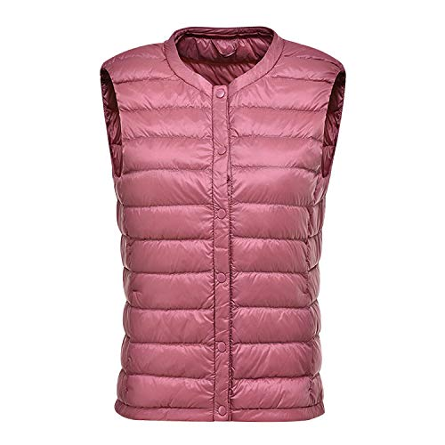 Lisli Women's Round Neck Vest Gilet Lightweight Quilted Button Down Waistcoat -