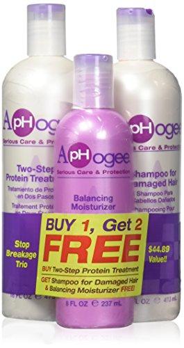 - Aphogee Two-Step Protein Treatment 16oz, Balancing Moisturizer 8oz, Deep Moisture Shampoo Restructurizer 16oz