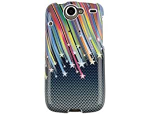 Design Plastic Carbon Star Phone Protector Case For HTC Google Nexus One