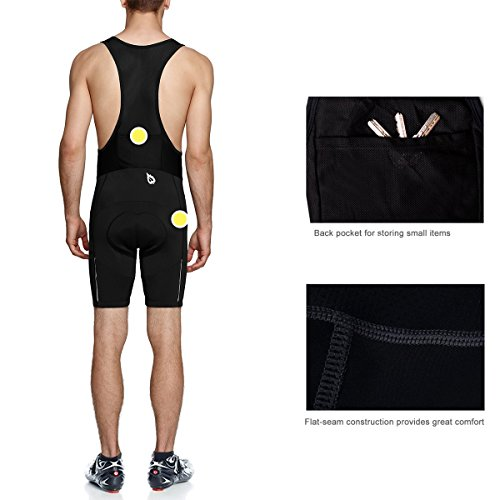 Baleaf Men's Pro II Gel Padded Cycling Bib Shorts UPF 50+