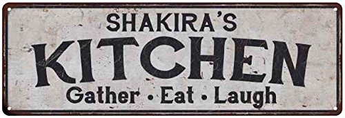 SHAKIRA'S Kitchen Rustic Look Chic Sign Home Décor Gift 8x24 Sign - Like Shakira A Look