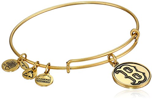 "Alex and Ani ""Major League Baseball"" Red Sox Cap Logo Rafaelian Gold-Tone Expandable Bangle Bracelet"